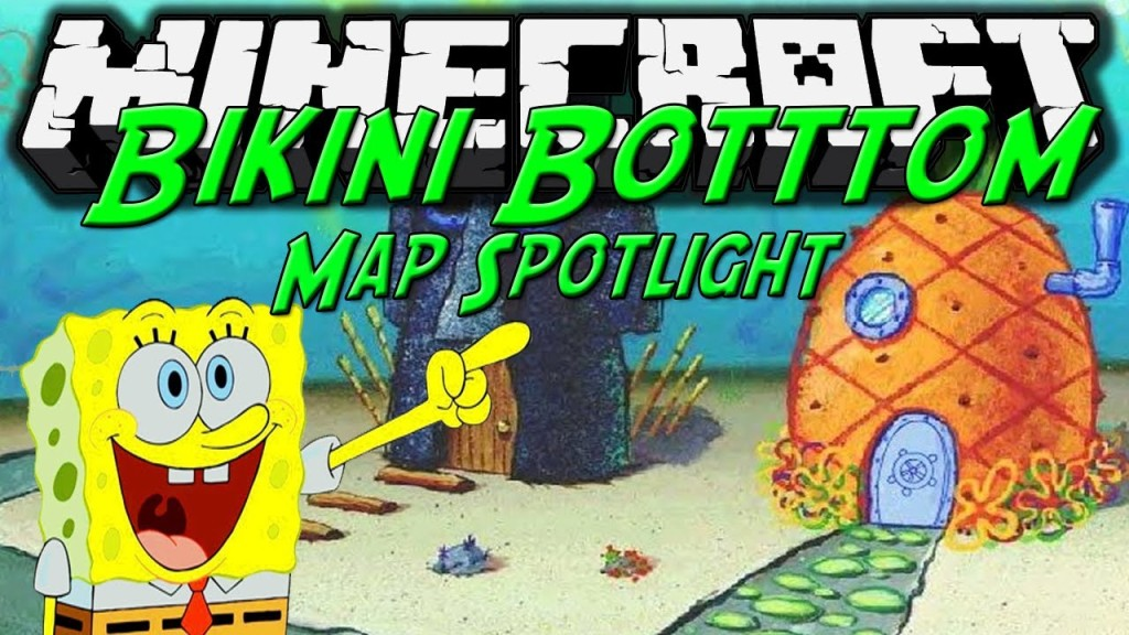 Bikini Bottom Map 1 8 Minecraft Hippie